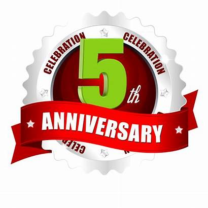 Anniversary 3rd Vector Ribbon 9th 6th 5th