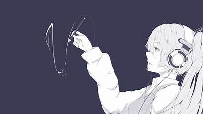 Anime Headphones Drawing Digital Head Wallpapers Draws