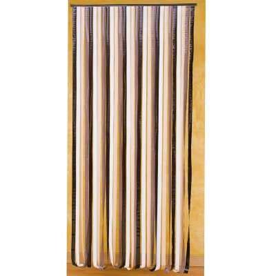 rideau de porte lamelles plastique rideau de porte 232 res plastique marron et beige provence outillage