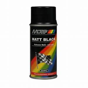 Peinture Noir Mat : bombe de peinture noir mat motip m00106 150 ml ~ Carolinahurricanesstore.com Idées de Décoration
