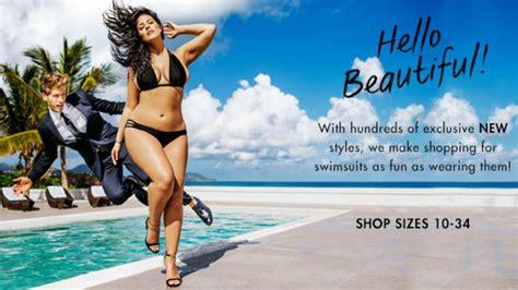 full figured swimsuit ads ashley graham