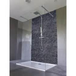 Carrelage Douche à L Italienne : panneau de douche carrelage noir salle de bain italienne ~ Melissatoandfro.com Idées de Décoration