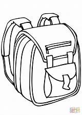 Coloring Printable Colorare Zaino Disegni Colouring Disegno Drawing Backpack Colorear Outline Bags Sheet Escuela Bolsa Tijeras Dibujo Purse Uno Scuola sketch template