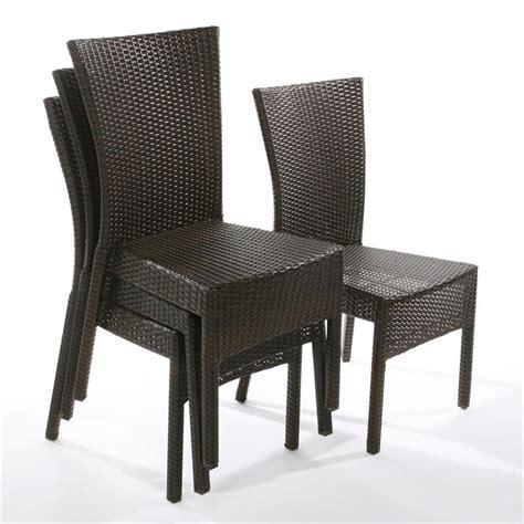 chaises de jardin en soldes lot de 4 chaises brighton résine tressée achat vente