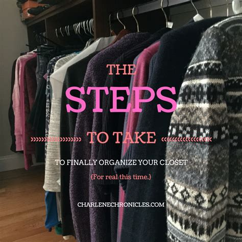 how to clean out your clothes closet charlene chronicles