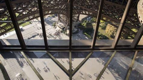 birds eye view   glass floor   eiffel tower
