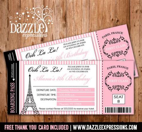 paris invitations ideas  pinterest paris