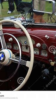 Vintage Bmw Sports Car Interior Editorial Photography ...