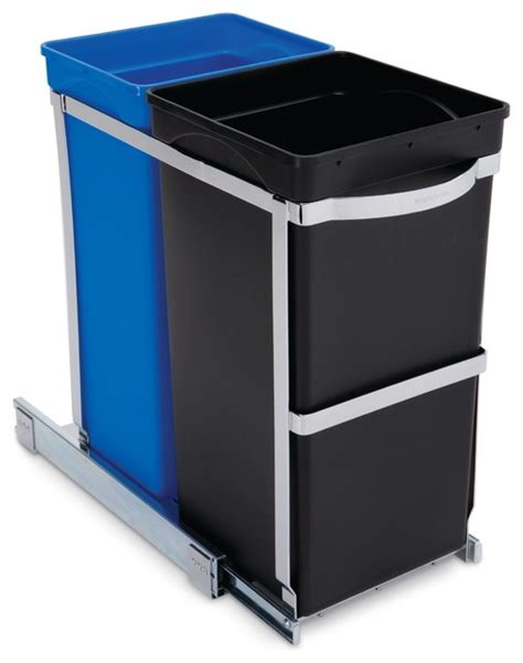 under cabinet trash bins 35 litre under counter pull out recycler commercial grade