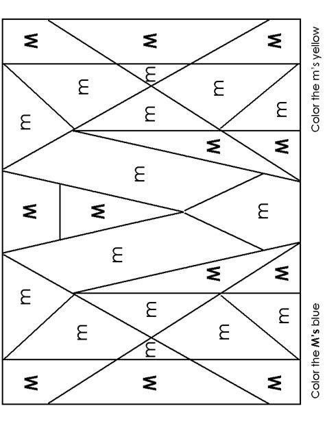 image worksheet alphabet recognition 746 | m as color1