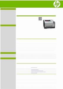 Hp Color Laserjet Cp1515n User U0026 39 S Manual