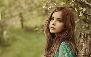 Beautiful Brown Hair Girl In The Forest Wallpaper Girls