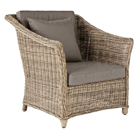 new outdoor rattan armchair oka