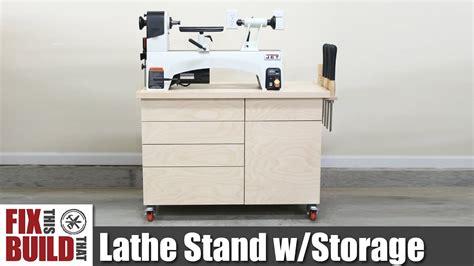 lathe stand mobile workstation diy woodworking strorage