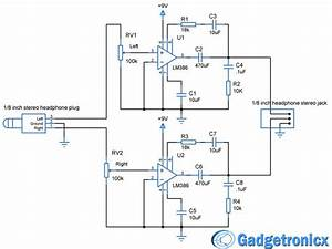 Diy Headphone Amplifier Circuit Diagram Using Lm386 Audio Amplfiier Chip  Working And