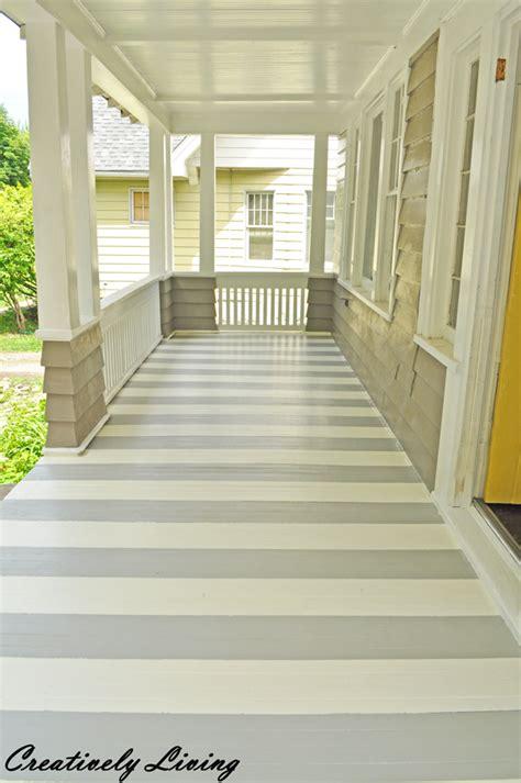 paint  porch  stripes creatively living blog
