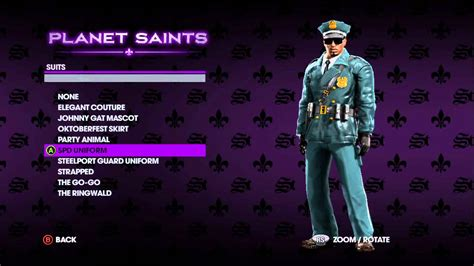 suits customize clothing  saints row   demo
