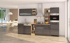 Küchenzeile 310 Cm Mit Elektrogeräten : k chenzeile m nchen vario 3 k che mit e ger ten breite 310 cm hochglanz grau graphit ~ Bigdaddyawards.com Haus und Dekorationen
