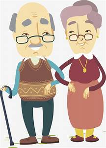 Dibujos De Ancianos, Abuelo, Abuela, Su Esposa Imagen PNG para Descarga gratuita