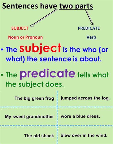 4th grade english grammar worksheets on subject predicate