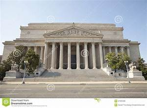 National Archives Building In Washington DC Front Royalty ...