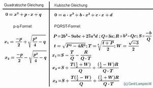 Nullstellen Berechnen Pq Formel : quartische kubische und quadratische gleichung pqrst formel p q formel gerd lamprecht ~ Themetempest.com Abrechnung