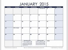 Free Printable Monthly Calendars 2015 – 2017 printable