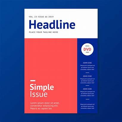 Magazine Simple Template Stylish Vector Layout Clipart