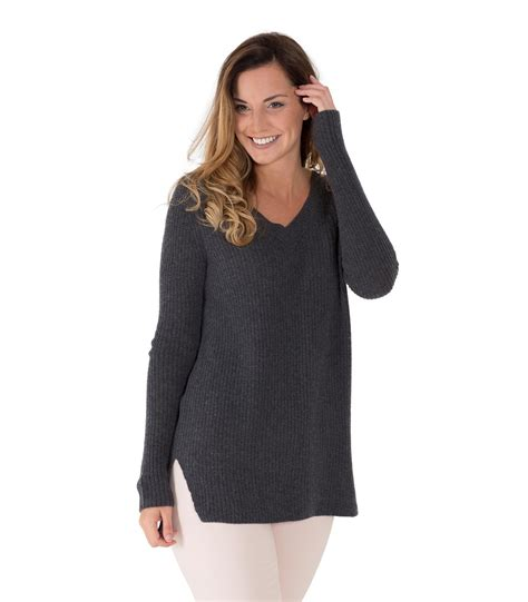 chunky womens sweaters woolovers womens merino chunky v neck sleeve