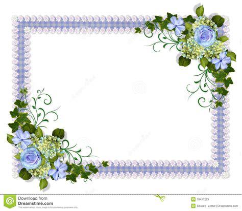 convites flores convites de casamento anivers 225 ou festas floral azul do convite do casamento imagens de stock royalty free imagem 18417229