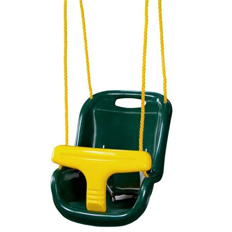 Outdoor Baby Swing by Gorilla Playsets Green Infant Swing With High Back 04 0032
