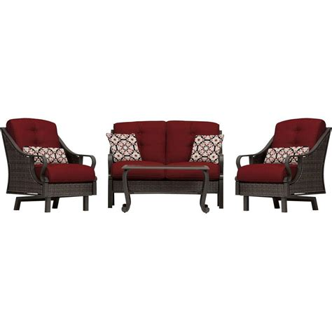 hanover ventura 4 all weather wicker patio seating