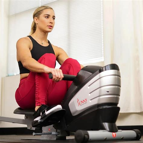Dual Function Magnetic Rowing Machine Sunny Health & Fitness