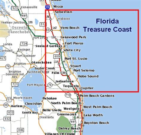 map of florida showing treasure coast google search