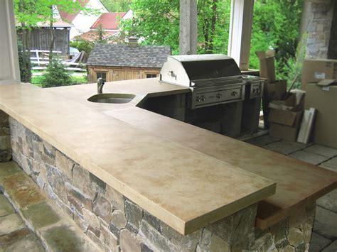 how to make an outdoor concrete countertop outdoor living with concrete countertops traditional