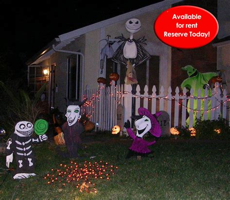 nightmare before yard decorations wooden cutout lawn decorations