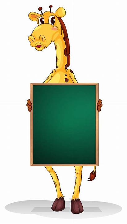 Board Holding Empty Giraffe Vector Vecteezy Clipart