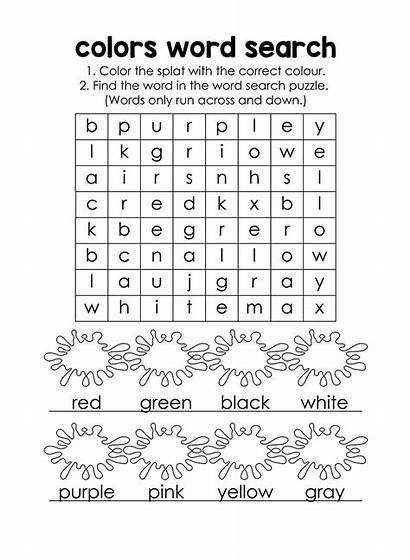 Word Colors Colours Puzzle English Short Colour