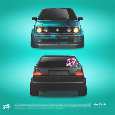 Volkswagen-Golf-MK2-GTi-by-Yagodesign-2020-Car-wrapping-Design - Yago Design | Volkswagen golf ...