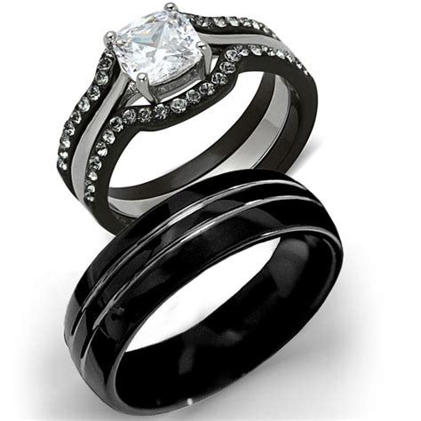 wedding ring sets tungsten gallery tungsten wedding sets for him and matvuk