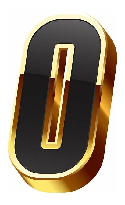 Transparent Zero Number Gold Clipart Numbers Yopriceville