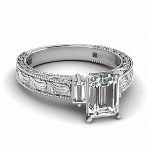 wedding rings halo ring enhancer best wedding band for With best wedding band for emerald cut engagement ring