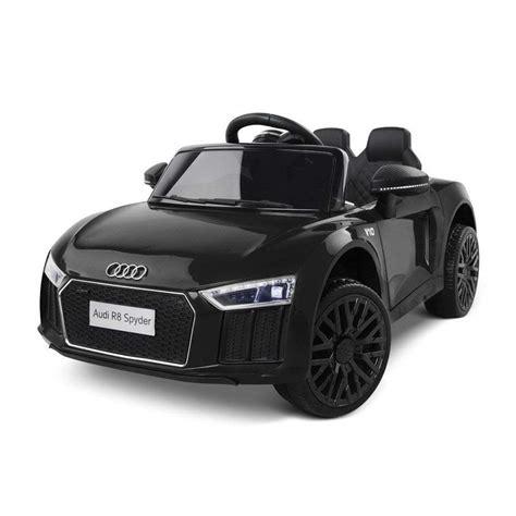 auto macchina elettrica per bambini audi r8 spyder nera