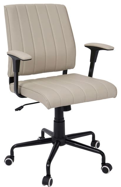 black metal desk chair contemporary office chair beige with black metal