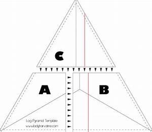 Lady Harvatine  Log Pyramid Quilt Along  Making Your Template