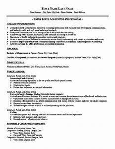 Entry level accountant resume best resume gallery for Entry level accounting resume