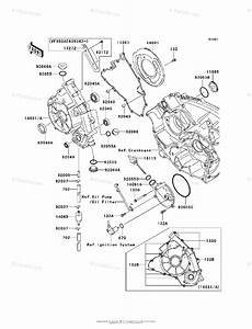 Kawasaki Atv 2006 Oem Parts Diagram For Engine Cover S