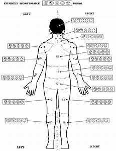 Body Back Map And Scales For Body Discomfort Evaluation