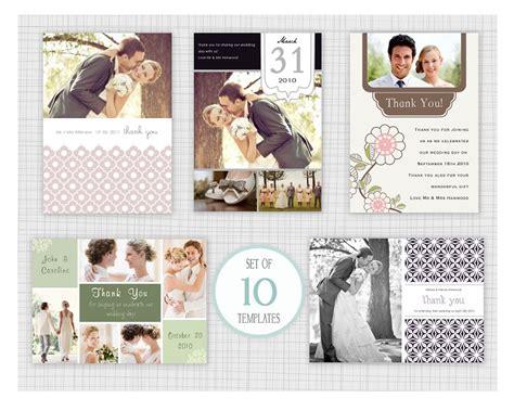 wedding thank you card photoshop template 10 psd wedding thank you card templates mini pack 4