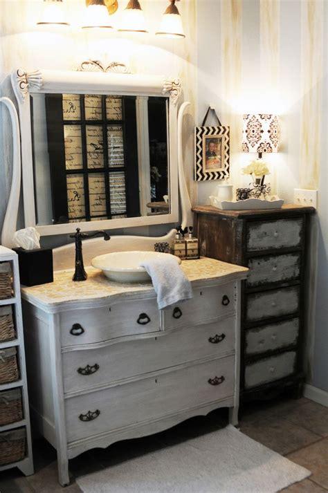 Antique Dresser Made Into A Bathroom Sink For The Home